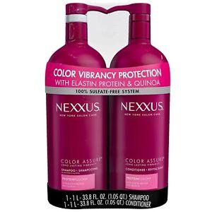 Nexxus Color Assure Shampoo and Conditioner Protein Fusion Quinoa, 33.8 FL OZ