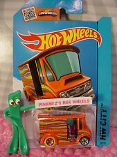 Case N/P 2015 i Hot Wheels BREAD BOX Delivery Truck #29∞Orange;Magenta/yellow∞