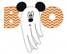 ::::::::: DISNEY :::::::::MICKEY MINNIE MOUSE HALLOWEEN T-SHIRT IRON ON TRANSFER