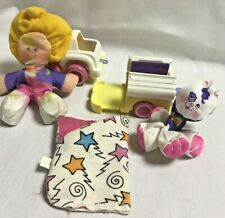 Smooshees Fisher Price Kathy and Kittycamp with Car and Camper 1987 Vintage