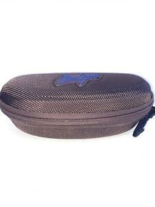 MAUI JIM Hard Brown Sunglasses Zippered Case with only Sports Clip FAST SHIPPING