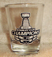 2014 STANLEY CUP champs Champions LA LOS ANGELES KINGS shot GLASS
