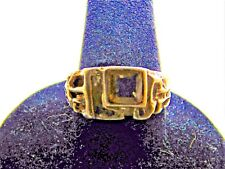 Estate ~ 0.5 Tcw Natural Citrine 925 Sterling Silver Vintage Soliltaire Ring 8