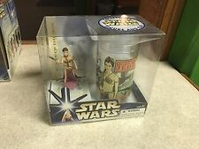 2004 Star Wars Figure & Cup Return of the Jedi Slave Leia MIB