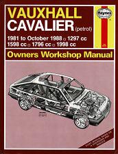 HAYNES MANUAL VAUXHALL CAVALIER Petrol 1297, 1598, 1796 & 1998cc 1981-1988