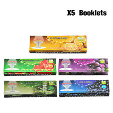 HORNET 5pcs 78MM Fruit Flavored Cigarette Rolling Paper Mixed 50 Papers Per Pack
