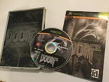 ORIGINALE XBOX GIOCO DOOM 3 III Limited Collector's Steelbook TIN BOX EDIZIONE PAL