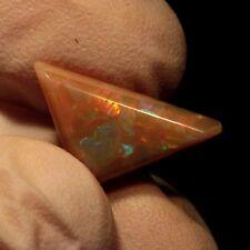 Natural orange based color ethiopian Welo opal freeform triangle cabochon