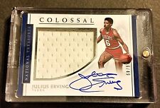 JULIUS ERVING ON CARD AUTO GAME USED JERSEY 2016-17 National Treasures #/49 SSP