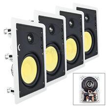 "6.5"" In Wall Home Theater Speaker 1"" Tweeter 90W 8 Ohm 2 Way DCM TP625W 4 Pack"