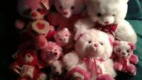 Lot of 10 Valentine Stuffed Animals