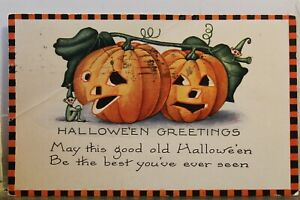 Halloween Greetings Best You've Ever Seen Postcard Old Vintage Card View Post PC