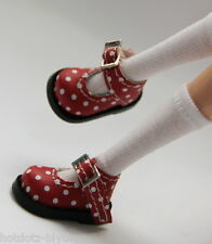 Alice's Shoes, Custom Mary Jane For Blythe/Pullip/Momoko/Obitsu/Dal - B3_123,Red