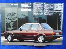 BMW 3er E30 316 318i - Werbeanzeige Reklame Advertisement 1984 __ (354