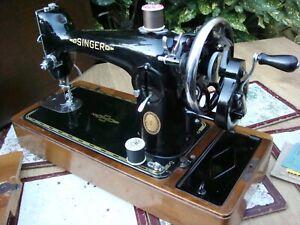 Antique Old Vintage  Hand Crank  Singer Sewing Machine Model  201K