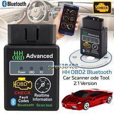 ELM327 Car OBD2 EOBD Bluetooth Fault Diagnostic Scanner Torque Detector Tool New