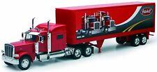 Peterbilt model 389 6x4 red with semi rigid body 2 axles marking peterbi