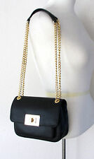 NWT Michael Kors Sloan Small Shoulder Flap Leather Bag Crossbody Black $248 NEW