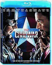 Marvel Captain America Civil War on Blu-ray Widescreen English French & Spanish