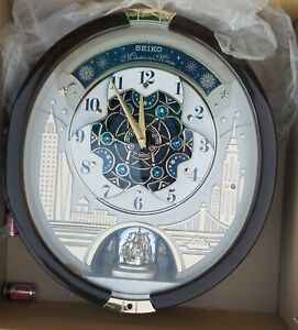 Seiko Special Edition Melodies in Motion Wall Clock with Swarovski Crystals