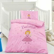 Kinderbettwäsche Bettwäsche 100x135 Rosa Prinzessin Baumwolle #416770