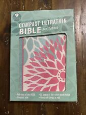 HCSB Compact Ultrathin Gift Bible For Teens, Green / Pink Blossoms Was $24.99