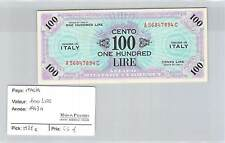 BILLET ITALIE - 100 LIRE - ONE HUNDRED LIRE - 1944