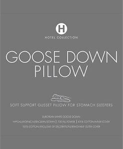 Hotel Collection European White Goose Down Soft Density Standard Pillow