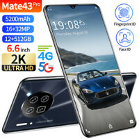 Mate43 Pro Smartphone 10Core Android Unlocked 12+512GB Dual SIM Face WIFI GPS 5G