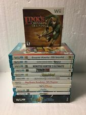 Nintendo Wii U And Wii Game Bundle - Super Mario, Starfox, Link Etc. (A)