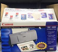 Vintage 1999 NEW OPENED BOX Canon BJC-1000 Color Bubble Jet Printer Rare Find!