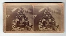 FIRST TRAIN OF REFUGEES, KIMBERLEY, S.A. 1900: Stereoscopic photograph (C28639)