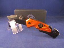 "Puma TEC 4 1/2"" Rescue Knife Orange Aluminum With Pocket Clip Mint In Box"