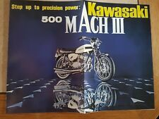 Prospekt Sales Brochure Kawasaki 500 Mach III Technische Daten Motorrad Bike