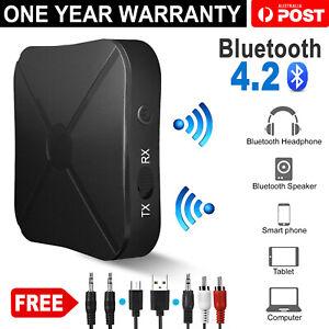 HIFI Wireless Bluetooth 2 in1 Audio Music Receiver Transmitter 3.5MM RCA Adapter