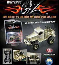 STACEY DAVID'S SGT.ROCK 1941 MILITARY DODGE 1/2 TON 4X4 PICKUP 1/64 ACME 51013