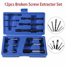 Easy Out Screw Extractor Set Broken Bolt Stud Fastener remover HSS 12pc w/ Case