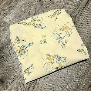 """Vintage Baby Crib Fitted Sheet Baby Animal Yellow 54"""" x 30"""""""
