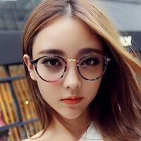 Women Men Vintage Round Clear Lens Glasses Nerd Geek Eyeglass Eyewear Spectacles