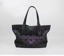 Glow in the Dark Light Reflecting Handbag Geometric Luminous Shoulder Bag Tote