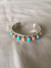 """""""Mine Finds"""" By Jay King Coral And Turquoise Cuff Bracelet"""