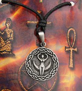 Collana a Sospensione Dea E Lune Talismano Popolo Nordic - IN etain-9058-CA4
