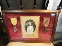 Cadre Médailles Militaires Guerre 1914 1918 Chemin des Dames 1917
