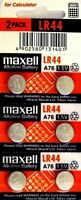 LR44 Maxell (6 piece) LR44 MAXELL A76 L1154 AG13 357 New Alkaline Battery