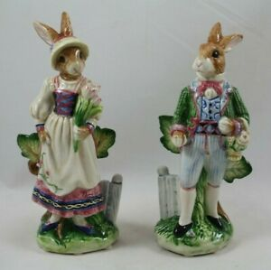 Fitz & Floyd Old World Rabbits Salt and Pepper Shakers