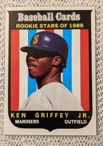 1989 Baseball Cards Magazine Seattle Mariners Ken Griffey Jr. Rookie Card RC #63