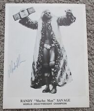 MACHO MAN RANDY SAVAGE ICW SIGNED PHOTO VINTAGE AUTOGRAPH AUTO WWE WWF WCW POFFO