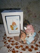 Precious Moments Ornament Baby's 1st First Christmas 2012 Boy/Deer