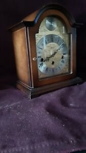 Vintage Hermle Walnut Mantel/Table Clock with Westminster Chimes
