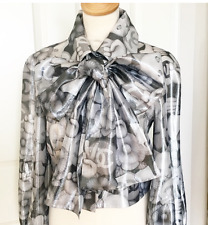 Chanel AW17 Silver Lame Cat Emoji Jacket Choupette!  BNWT 38